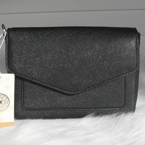 Handbags - Black Vegan Leather Shoulder Handbag